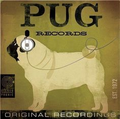 PUG records album style illustration graphic by geministudio, $80.00