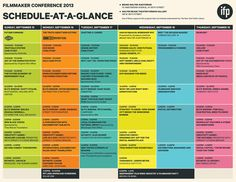 conference schedule graphic design - Google Search