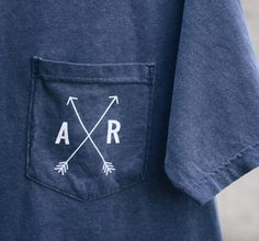 show your state love in one of our State Arrow Comfort Colors tees (also in coral)  online now!