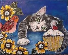 Image result for cute acrylic animal paintings