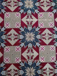 Κλασσικό σχέδιο σταυροβελονιάς διασκευασμένο για πιο ανάλαφρη νότα. Γιούλη Μαραβέλη-Χαλκίδα.Τηλ:22210 74152. Cross Stitch Embroidery, Needlepoint, Bohemian Rug, Needlework, Quilts, Blanket, Rugs, Knitting, Handmade