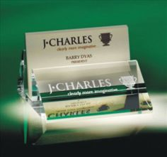 Modern styled Crystal Business Card Holder will dress up any desk, especially when engraved with your name! A great gift for your boss or administrative assistant or recent graduate with a first job. $155