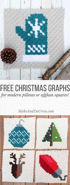 Modern C2c Crochet Christmas Afghan Free Pattern Christmas