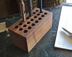 The Block - Handmade Walnut Wood Pen Holder