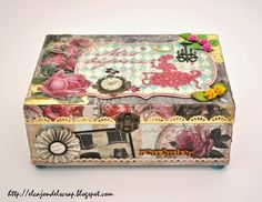 Caja joyero con scrapbooking / Jewelry box with scrapbooking techniques