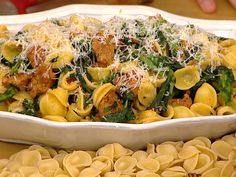 Yum! @Giada De Laurentiis makes orecchiette w spicy turkey sausage & broccoli rabe, caramelized onion, sausage & basil pizza and more!