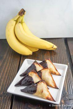 Banana Peanut Butter Wontons