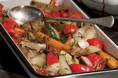 Grilovaná zelenina z trouby | Apetitonline.cz Kung Pao Chicken, Vegetable Recipes, Detox, Vegetarian, Paleo, Meat, Dinner, Vegetables, Cooking