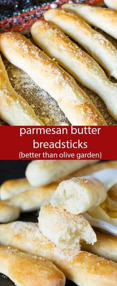 These soft Parmesan Butter Breadsticks will make your Italian dinner complete! A lightly sweetened dough that tastes better than Olive Garden. Parmesan Butter Breadsticks {Better Than Olive Garden Recipe} via @tastesoflizzyt