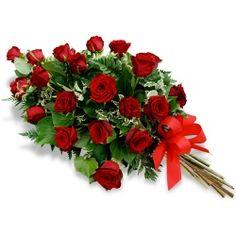 Les fleurs deuil<br>Gerbe de fleurs piquées Pathéia