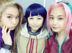 """the ladies of live spectacle naruto pt 3 """"chinen saya (ensemble) imamura miho (haku) inami anju (ino) ito yui (sakura) takahashi saki (hinata) """" sources: 1 2 3 4 Sasuke Cosplay, Cosplay Anime, Cosplay Girls, Naruto Girls, Naruto Art, Anime Naruto, Hinata, Naruto Uzumaki, Boruto"""