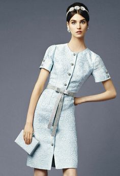 Dolce and Gabbana 2014 spring baby blue dress