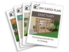 Looking to build a catio yourself? Find various blueprints here and give your cat the joy of spending time outside in a safe environment.