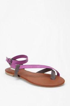 4ced04a57 Kimchi Blue Buckle Ankle-Wrap Sandal Purple Sandals