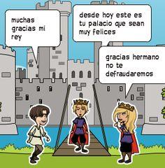 muchas gracias mi rey | desde hoy este es tu palacio que sean muy felices | gracias hermano no te defraudaremos