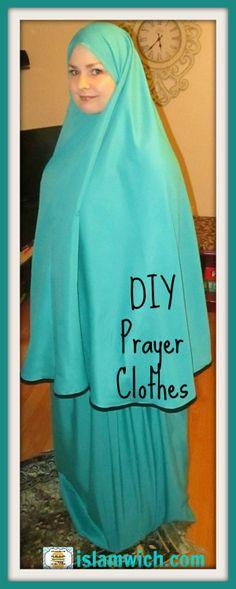 How to make your very own Prayer clothes on islamwich.com Muslim Fashion, Modest Fashion, Abaya Pattern, Muslim Wedding Dresses, Dress Wedding, Zeina, Moroccan Dress, Islamic Clothing, Hijab Dress