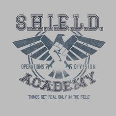 SHIELD Ops Academy T-Shirt - Agents of SHIELD T-Shirt is $12.99 today at Pop Up Tee!