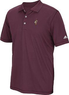 Cleveland Cavaliers Adidas Pure Motion Wine Performance Polo Shirt  56.95 Cavs  Basketball 18752ea0b