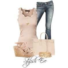 """Rosemunde Viktoria Top with H Sandals"" by stylisheve on Polyvore"