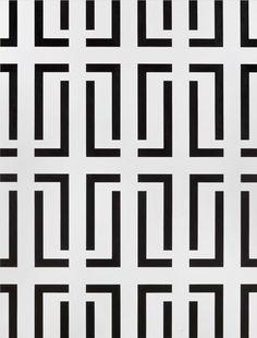 From pop/off/art, Alexander Sigutin, Untitled Canvas, acrylic, 140 × 105 cm Stencil Patterns, Zentangle Patterns, Pattern Art, Pattern Design, Art Deco Wallpaper, Pattern Wallpaper, Mosaic Designs, Geometric Designs, Geometric Stripe Wallpaper