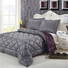 Down-alternative 3-piece Reversible Comforter Set  Beautiful. Would love this comforter in our bedroom.