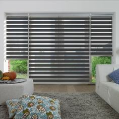 Image for Origin, Pewter - Day Night Blind Patio Door Coverings, Window Coverings, Window Treatments, Persiana Sheer Elegance, Day Night Blinds, Zebra Blinds, Best Blinds, Kitchen Blinds, Blinds For Windows