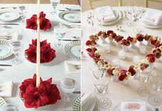 enfeites de mesa de jantar romÂntico
