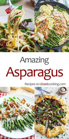 Asparagus Recipes A collection of the most amazing asparagus recipe! Veggie Side Dishes, Vegetable Sides, Side Dish Recipes, Vegetable Recipes, Healthy Dinner Recipes, Keto Recipes, Healthy Snacks, Cooking Recipes, Crockpot Recipes