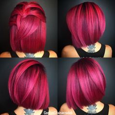 30 Pretty in Pink Hair Colors and Styles We Love - Hair Color - Modern Salon The Effective Pictures We Offer You About DIY Hair Color wax A quality picture can tell you many things. Hot Pink Hair, Hair Color Pink, Cool Hair Color, Purple Hair, Pink Hair Streaks, Pink Hair Highlights, Hair Color Ideas For Brunettes Balayage, Salon Hair Color, Fall Hair Colors