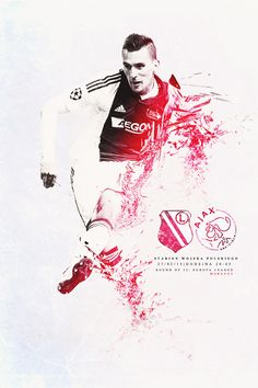 I didn't put Legia player, beacause it could damage my conception of this poster.Legia Warszawa vs AFC Ajax ! Good luck Arek Milik! It can be interesting game!
