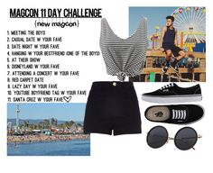 """""""Magcon 11day challenge: Santa Cruz w/ Cameron Dallas"""" by hola-hi ❤ liked on Polyvore featuring Vans, River Island, WithChic, challenge, santacruz, CameronDallas and magcon"""
