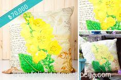 """Cojín """"Orquídea Amarilla"""" de nuestra nueva colección"""
