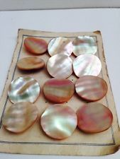 BEAUTIFUL EDWARDIAN 12 X MOTHER OF PEARL BUTTONS
