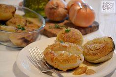 Cipolle+gratinate Baked Potato, Shrimp, Meat, Baking, Ethnic Recipes, Oven, Contouring, Vegetables, Walking