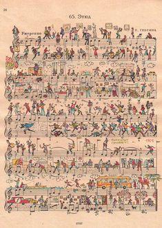 Sheet music art.