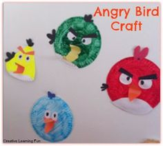 Paper plate Angry Birds craft - Creative Learning Fun