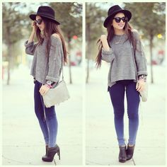Ombre and gray!! (by Daniela Ramirez) http://lookbook.nu/look/4565519-Ombre-and-gray