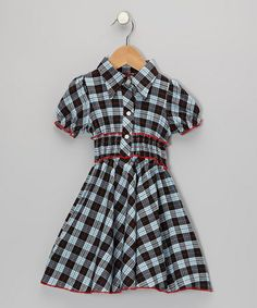 Take a look at this Blue & Red Plaid Shirt Dress - Toddler & Girls by Lele for Kids on #zulily today!