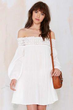 Margaritaville Off-the-Shoulder Dress - White | Shop Clothes at Nasty Gal!