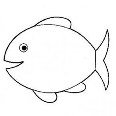 Fish Coloring Pages For Kids - Preschool Crafts Owl Coloring Pages, Fish Coloring Page, Preschool Coloring Pages, Printable Coloring Pages, Coloring Pages For Kids, Coloring Books, Bee Crafts For Kids, Toddler Crafts, Summer Crafts