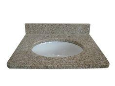 """Tuscany 37"""" x 22"""" 3CM Granite Vanity Top (8"""" OC) Bowl at Menards"""