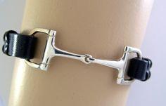 Dee Bit laced rein leather bracelet in sterling silver