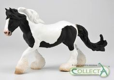 CollectA horse Gypsy Mare black and white piebald www.minizoo.com.au