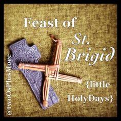 two Os + more: Little HolyDays :: Feast of St. Brigid - celebrating her feast day on February 1 July 23 Catholic Kids, Catholic Saints, Roman Catholic, Sunday School Activities, Youth Activities, Jesus In The Temple, St Brigid, Irish Roots, Groundhog Day