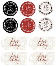 Free printable holiday gift tags and round stickers | avalon mckenzie for camillestyles.com