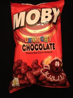 Moby Crunch Chocolate Snack Chocolate Snacks, Chocolate Flavors, Corn Snacks, Pinoy Food, Snack Recipes, Chips, Childhood, Clay Ideas, Filipino