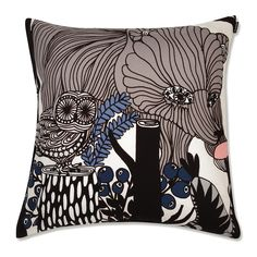 Marimekko Veljekset Finland 100 Year Anniversary Throw Pillow