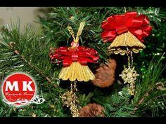 Мастер-класс Канзаши.Новогодние Колокольчики Канзаши/Christmas Bells kanzashi on the Christmas tree. - YouTube