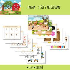 Soubor 14 pracovních listů s aktivitami na téma FARMA. Vhodné pro předškolní děti. • přiřazování zvířat k jejich obrysům • přiřazování zvířecích stop • počítání zvířat • třídění ovoce a zeleniny • přiřazování barev (květiny a traktory) • obtahování číslic #rostliny #pracovnilisty #pdf #fotosynteza #castirostlin #predskolaci #domskolaci #distancnivyuka #domaciskola #aktivitprodeti #worksheets #farm #preschool #skolka #domaciskolka Blog, Blogging
