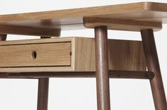 The Fosse Console, available with or without drawer is great occasional table or small desk space. Each piece is handmade to order. Handmade Furniture, New Furniture, Furniture Design, Furniture Makers, Contemporary Furniture, Contemporary Design, Boardroom Furniture, Desks For Small Spaces, Gallery Of Modern Art
